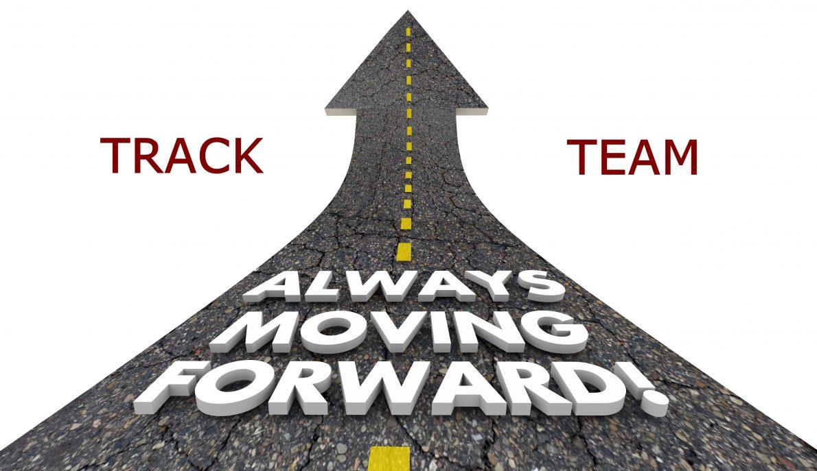 Always Moving Forward Progress Movement Road 3d Illustration